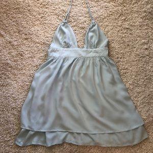 Tobi baby blue halter dress